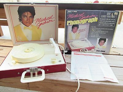 Michael Jackson Vanity Fair Record Player Phonograph IN box w/ instructions!