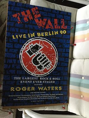 "Roher Waters ""live in Berlin 90"". Original promo poster."
