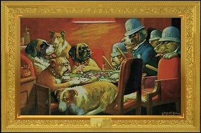 """DOGS PLAYING POKER POSTER """"BUSTED"""" """"BRAND NEW"""" LARGE """"61 cm X 91.5 cm"""" LICENSED"""
