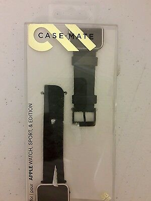 Case-Mate Replacement Band for Apple Watch - CM032787 - Black/Black 38 mm