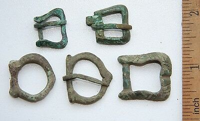 Group Of Ancient Old Bronze Decorations Buckles (OCR01)