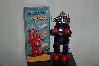 Vintage 1950s Nomura Battery Operated Tin Mechanized Robot Space Toy