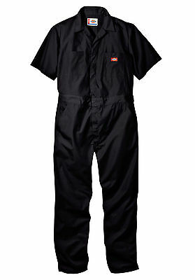Mens DICKIES #33999 Short Sleeve COVERALLS Black Grey Khaki Blue Red