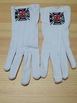 Hot sell  Masonic Gloves Customized  Embroidery G2