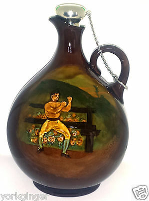 Royal Doulton Kingsware Daniel Mendoza Boxing Champion Whitechapel Whiskey Flask