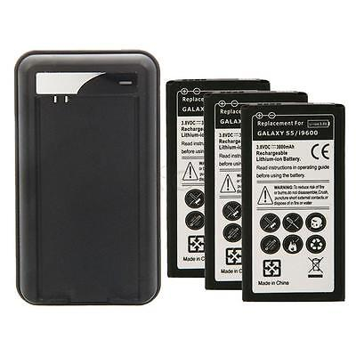 New 3800mAh Rechargeable Battery Replacement+Charger for Samsung Galaxy S5 I9600