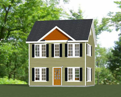 22x24 House -- 987 sq ft -- PDF Floor Plan - Model 1