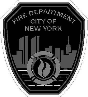 4 Inch Non Reflective FDNY Subdued New York Fire Department Sticker Decal