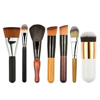 7Pcs Pro Makeup Brushes Set Kit Powder Foundation Eyeshadow Lip Contour Brush