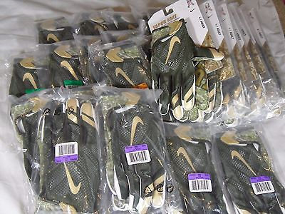 New Nike Vapor Knit NFL Salute to Service STS Receiver Skill Gloves Olive Camo