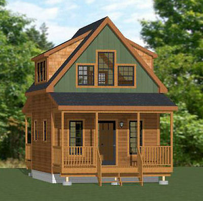 16x20 Tiny House -- 574 sq ft -- PDF Floor Plan -- Model 4B