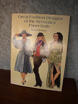 Great Fashion Designs of the Seventies - Paper Dolls - Tom Tierney NEW PRESTINE