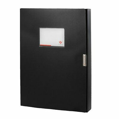 uxcell Office Black Plastic Detachable Closure A4 Papers Documents File Box