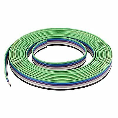 uxcell 10ft 6 Way Flexible IDC Flat Ribbon Cable 1.27mm Pitch