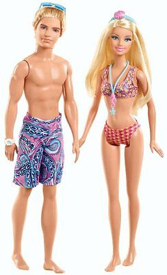 Barbie and Ken Beach Doll Giftset, 2-Pack