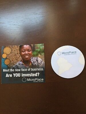 MicroPlace White T shirt mens Large Magnet Sticky Note Pad used for charity