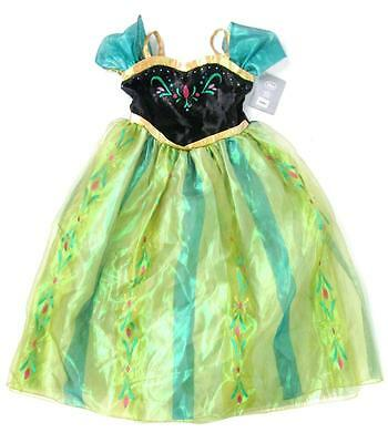 Disney Kids Frozen Princess Anna Coronation Green Black Dress Costume 9/10 Nwt  sc 1 st  PicClick & DISNEY KIDS FROZEN Princess Anna Coronation Green Black Dress ...