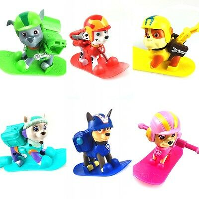 Paw Patrol Toys Action Figures Plastic Puppy Patrol Dog + Snowboard Kids Gifts