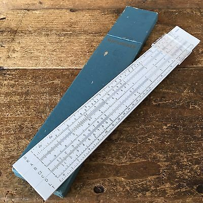 Vintage MICADOR 50 SLIDE RULE Old IOB Antique Ruler Measuring Hand Tool #106