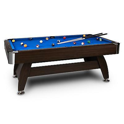 8' BILLIARDS POOL SNOOKER TABLE 122 x 79 x 244 cm BALL CUE SET GAME BEER PARTY