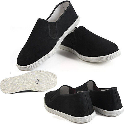 Men Casual Kung fu Martial Arts Tai Chi Driving Comfort Silp On Flat Cloth Shoes