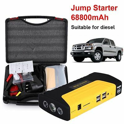 68800MAH Portable Diesel Car Jump Start Pack Charger Battery Power Bank Booster