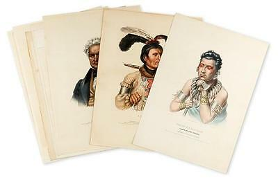 MCKENNEY, THOMAS; and HALL, JAMES. Group of 11 hand-colored lithograp... Lot 339