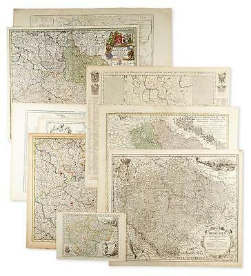 (CZECH REPUBLIC.) Group of 10 engraved maps of Bohemia. Lot 26