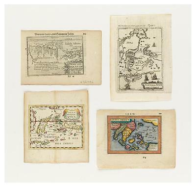 (SPICE ISLANDS) Group of four miniature engraved maps relating to the ... Lot 73