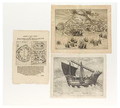 (SPICE ISLANDS). Group of three engravings relating to the Spice Islands. Lot 76