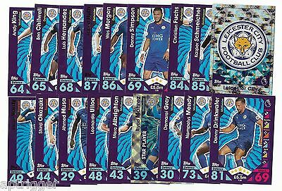 2016 / 2017 EPL Match Attax LEICESTER CITY Team Set (24 Cards)
