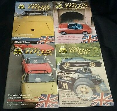 CLUB LOTUS NEWS - Owners Club Magazine All 4 Issues from 2004