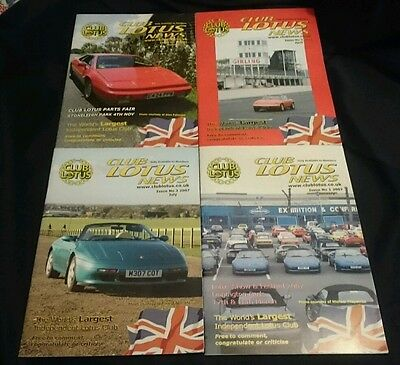 CLUB LOTUS NEWS - Owners Club Magazine All 4 Issues from 2007