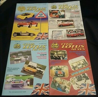 CLUB LOTUS NEWS - Owners Club Magazine All 4 Issues from 2002