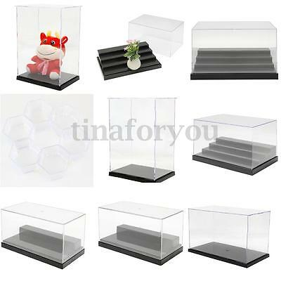 6 Pattern Clear Acrylic Display Show Box Case Dustproof Tray Protection Decor