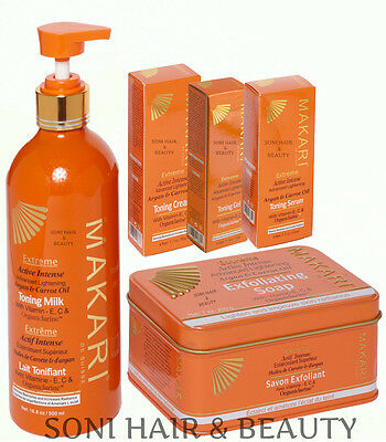 Makari Extreme Argan & Carrot Oil with Vitamin E, C & Organiclarine Products UK