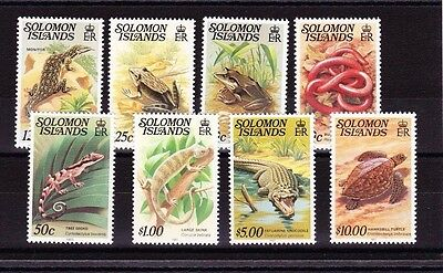 BRITISH SOLOMON ISLANDS 1979-83 COMPLETE SET WITH IMPRINT SG 394Bw-403cB  MNH.