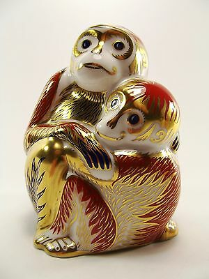 Royal Crown Derby Paperweight Monkey & Baby Ref 224/1