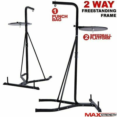 MAXSTRENGTH Heavy Duty 2 Way Free Standing Boxing Punch Bag Stand Hanging Frame