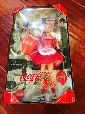 Mattel Year 1998 Barbie Collector Edition: Coca-Cola Barbie as a Waitress.