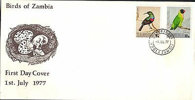 Zambia First Day Cover 1977 Bird Issue