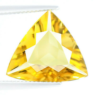 6.74ct LOUPE CLEAN NATURAL EARTH MINED AAA GOLDEN YELLOW BERYL AQUAMARINE BRAZIL