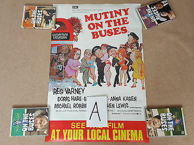 Original MUTINY ON THE BUSES Double Crown Film Poster (A) Reg Varney Bob Grant