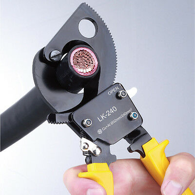 LK-240 Cu/Al Cables Ratchet Cable Cutter Cuts Up To 240mm² Wire Cutter