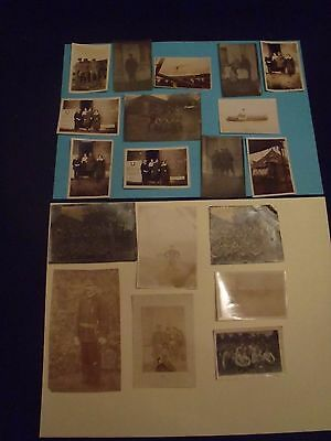 vintage b&w  WW1 photo snapshots lot of 19 some in theater