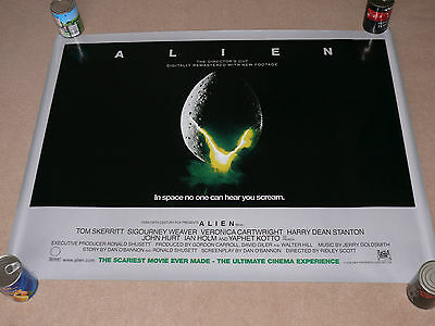 Original ALIEN / ALIENS The Directors Cut Film / Movie Poster - H R Giger