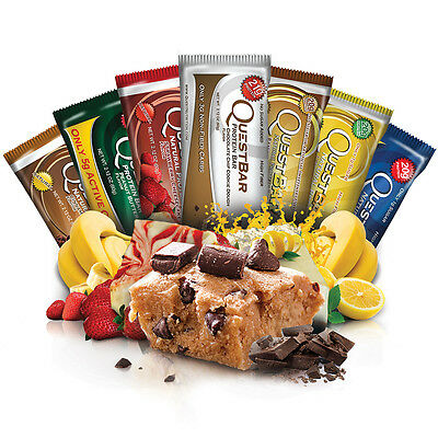 QUEST PROTEIN BAR - 12 BARS - ALL FLAVOURS INCLUDING COOKIE DOUGH (November Date