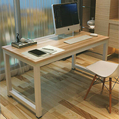 Home Office Desk Computer PC Writing Study  Table Workstation Wood Metal Legs