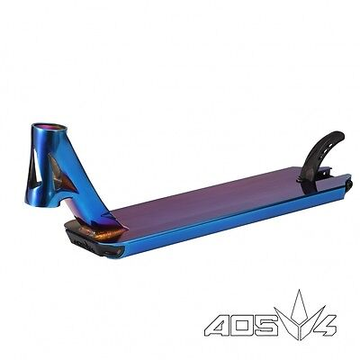 Blunt AOS V4 Ray Warner Signature Scooter Deck - Blue Chrome + FREE T-Shirt