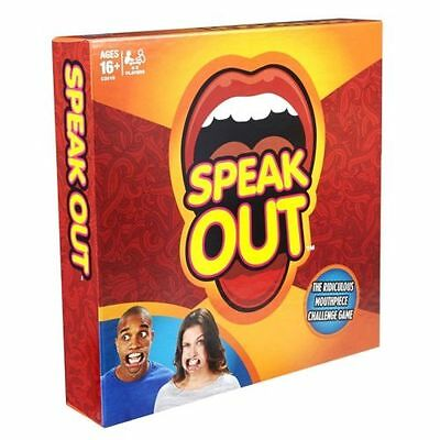 Genuine Brand New Speak Out Board Game  Party Mouthguard Challenge Game IN STOCK